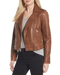 Andrew Marc Marc New York Wesley Washed Leather Biker Jacket