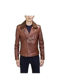 United Face Fur Cllar Biker Jacket