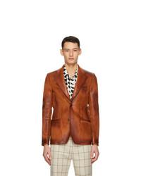 Marni Orange Corduroy Waxed Blazer