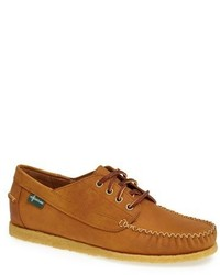 Tobacco Leather Boat Shoes
