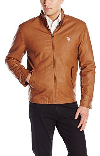 U.S. Polo Assn. Barracuda Faux Leather Jacket With Small Pony Logo ...