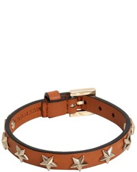 RED Valentino Stars Studs Leather Bracelet