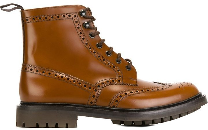 Church's Brogue Detailing Boots, $529