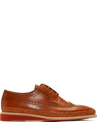 Paul Smith Ps By Cognac Leather Kordan Brogues