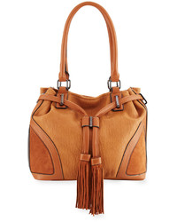 French Connection Heidi Faux Leather Bucket Bag Nutmeg