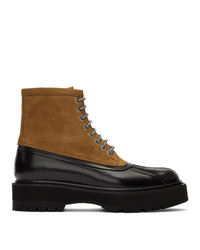 Givenchy Brown And Black Camden Boots