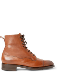 Edward Green Galway Cap Toe Grained Leather Boots