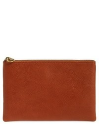 Madewell The Leather Pouch Clutch Blue