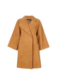 Theory Oversized Cropped Sleeve Coat