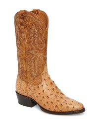 Tobacco Leather Cowboy Boots