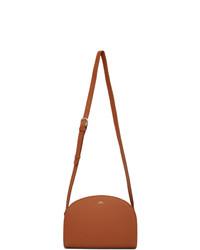 A.P.C. Brown Demi Lune Bag