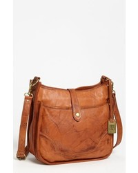 Campus leather crossbody bag brown medium 619016