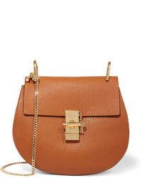 Chloé Drew Small Textured Leather Shoulder Bag Light Brown