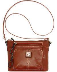 Bernini Giani Florentine Glazed Leather Horizontal Crossbody