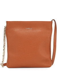 Furla Julia Crossbody Bag With Chain Handles New Cuoio