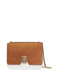 Burberry Medium Tb Two Tone Leather Shoulder Bag