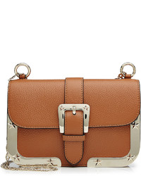 RED Valentino Red Valentino Leather Shoulder Bag With Gold Tone Frame