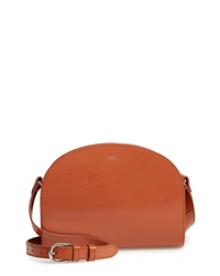 A.P.C. Sac Demilune Leather Crossbody Bag