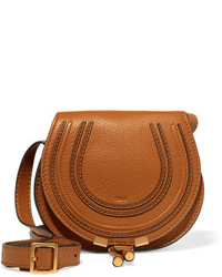 Chloé The Marcie Mini Textured Leather Shoulder Bag Brown