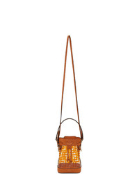 Fendi Transparent And Orange Pu Mini Mon Tresor Bag