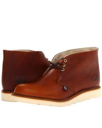 Tobacco Leather Desert Boots