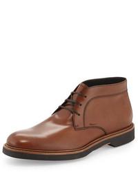 Ferragamo malik calfskin chukka boot brown medium 380803