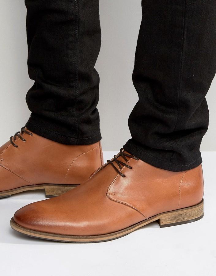 cbd9ac8d45e $130, Selected Homme Bolton Leather Chukka Boots