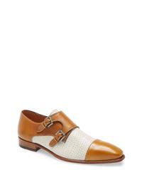 Mezlan Saber Double Monk Shoe