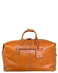 Tobacco Leather Duffle Bag