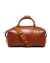 Pebbled leather duffle bag chestnut medium 112202
