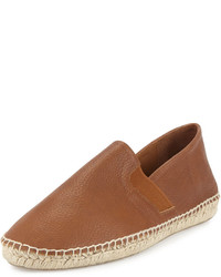 Vince Luggage Leather Espadrille Brown