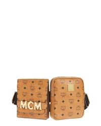 MCM Canvas Double Belt Bag