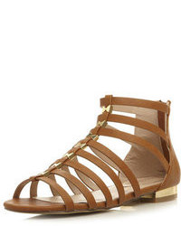 Dorothy Perkins Head Over Heels By Dune Corfu Caged Flat Sandals