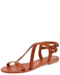 Joie Socoa Strappy Leather Sandal Cognac