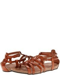 Tobacco Leather Gladiator Sandals