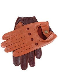 Dents two tone leather driving gloves cognacenglish tan medium 176662