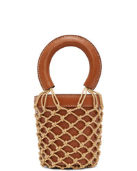 Staud Brown Mini Moreau Bag