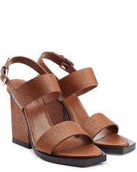 Jil Sander Block Heel Leather Sandals
