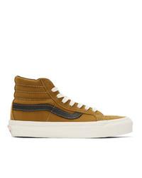 Vans Brown Nubuck Og Sk8 Hi Lx Sneakers
