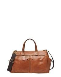 Fossil Defender Leather Duffel Bag