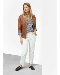 Violeta BY MANGO Panel Leather Jacket