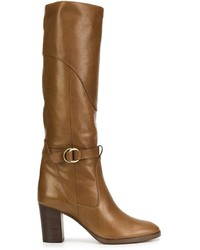 Chloé Buckled Knee High Boots