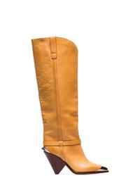 Isabel Marant Lenskee 90 Toe Leather Cowboy Boots
