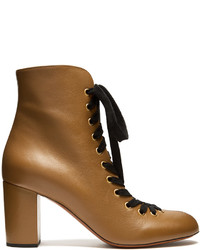 Chlo miles lace up leather ankle boots medium 3709723