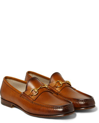 Tobacco Leather Loafers