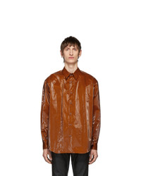 Tobacco Leather Long Sleeve Shirt