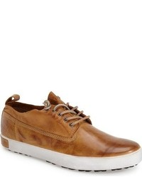 Tobacco Leather Low Top Sneakers
