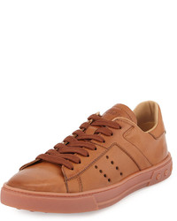 Tod's Leather Lace Up Sport Sneaker Light Brown