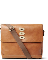 Tobacco Leather Messenger Bag