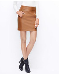 Ann taylor faux leather mini skirt medium 109369